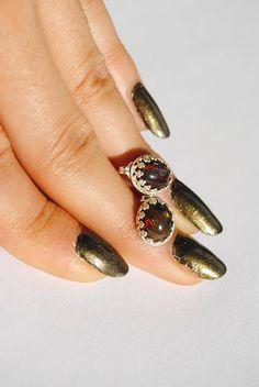 Silver Earrings  Natural Black Ethiopian Opals