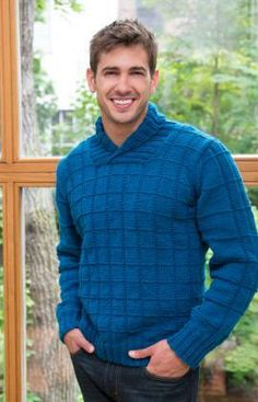 3cf157e68 Shawl Collar Pullover Free Knitting Pattern from Red Heart Yarns Knitting  Designs