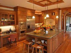 subway tile backsplash with oak cabinets - google search | kitchen