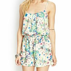 ONE DAY SALE Beautiful floral romper -Brand new with tags  -smoke free home -no trades -no paypal Forever 21 Dresses