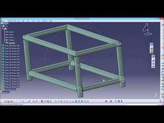 CATIA V5: structure design - YouTube