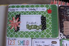 Love how she decorated her date card. I need to do a better job of using that space!