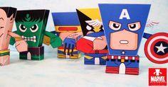 super-herois bonecos de papel