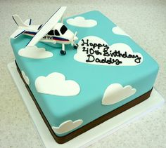 Pilot's 40th Birthday Cake by Coco Cake Co., via Flickr