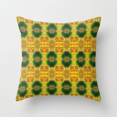 SPIRITUAL_in yellow Throw Pillow by MiuRiO Decor - $20.00