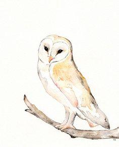 Love her / Owl / nature / earthtone / brown / by kellybermudez, $20.00