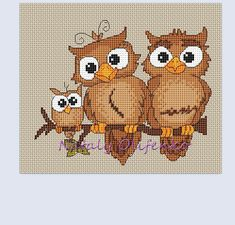 That little owl is nice // cross stitch owl