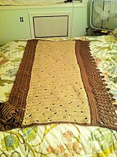 Coffee Table Runner.  Made it asymmetrical for a more modern twist.