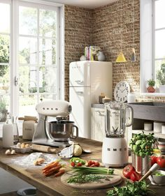 Grey, brick and ivory SMEG