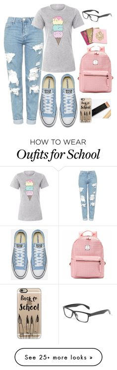 """Back to school"" by lizz-med on Polyvore featuring Topshop, Pusheen, Juicy Couture and Casetify"