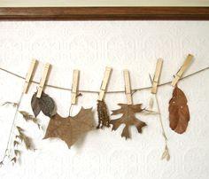 clothespin leaf garland
