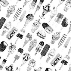 Ice Cream Wrapping Paper'