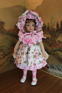 "13"" Dianna Effner's Little Darling ""A PASSION FOR PINK"" 6-Piece Dress Ensemble"