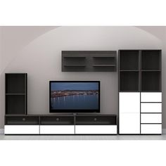 Contemporary, sleek and inspiring, the Allure Sixty-Inch TV Stand is simple and timeless, yet functional. - Nexera - Allure SixtyInch TV Entertainment Center