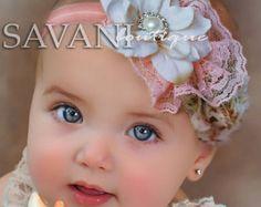 Venda de la muchacha diadema de encaje de color por SAVANIboutique