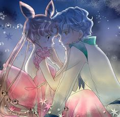Princess Small Lady Serenity and Helios | by月の記憶 @ Pixiv.net // #sailormoon