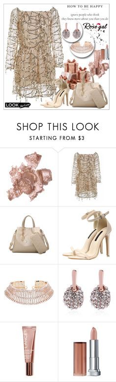 """""""Rosegal lady style"""" by sabine-rose ❤ liked on Polyvore featuring By Terry, Lancer Dermatology and Maybelline"""