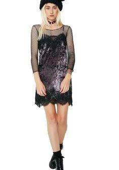 All Falls Down Velvet Lace Dress