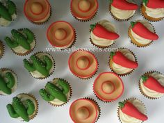 Mexican party cupcakes ~ cupcakes festa mexicana   Flickr - Photo Sharing!