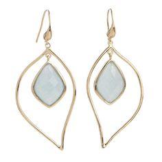 Organic Diamond & Leaf Shape Agate Earrings   Marcia Moran $138