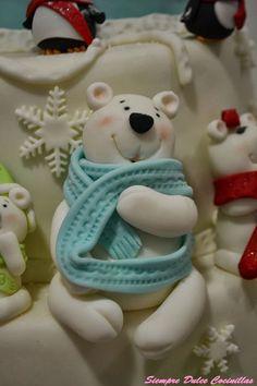 Papá oso fondant.  Mi oso me tiene enamorada...