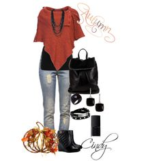 A fashion look from October 2014 featuring NIC+ZOE tops, Taking Shape and Anine Bing jeans. Browse and shop related looks.