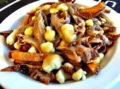 Duck confit poutine with duck gravy and fries fried in duck fat from Le Canard Libere in Montreal.