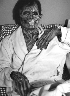 Griffin Dunne in Rick Baker's rotting Jack Goodman makeup from American Werewolf in London