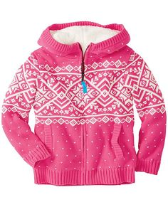 Getting Warmer Sherpa Lined Sweater Hoodie from #HannaAndersson.