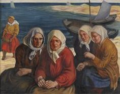 "Peet Aren (1889 - 1970) ""Women from the Coast"", 1930,  Estonia"