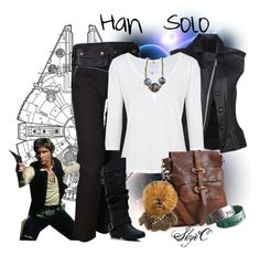 """Han Solo Inspired Outfit"" by rubytyra ❤ liked on Polyvore featuring Mandula, Joseph, Velvet and Campomaggi"