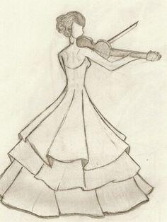 Best ideas for dancing drawings pencil Girl Drawing Sketches, Girly Drawings, Princess Drawings, Art Drawings Sketches Simple, Pencil Art Drawings, Pencil Sketches Easy, Some Easy Drawings, Girl Drawing Easy, Dancing Drawings