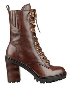 Gandy Lace-Up Booties at Guess