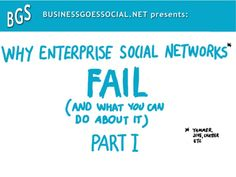 BusinessGoesSocial presents: Why enterprise socialsocial networks fail what you you BusinessGoesSocial.net presents: Why e...