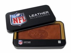 NFL New York Jets Embossed Genuine Cowhide Leather Checkbook Cover -- You can find out more details at the link of the image.