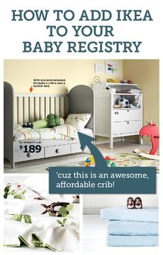 Because Ikea makes amazing nursery furniture! Add anything (from any store - yes, even Ikea...and even Etsy) to one beautiful baby registry with BabyList. Works just like Pinterest.