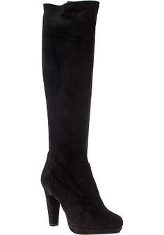 Want these black suede boots!