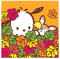 Image about pochacco in Sanrio by Madeline on We Heart It Hello Kitty Characters, Sanrio Characters, Cute Characters, Cute Cartoon Drawings, Cute Kawaii Drawings, Kawaii Cute, Pochacco Sanrio, Keroppi, Sanrio Wallpaper