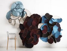 It is inspirational to see innovative work by young designers. I like this beautiful modular, textile  room divider. It allows the user to add new pieces and subtract easily.
