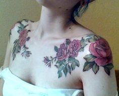 Roses tattoo shoulders
