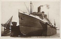 Southampton - RMS Majestic in Southampton Floating Dock
