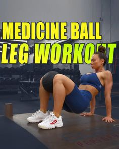 Full Body Hiit Workout, Gym Workout Videos, Gym Workout For Beginners, Fitness Workout For Women, Butt Workout, Gym Workouts, Medicine Ball Exercises, Bola Medicinal, Fitness Motivation Pictures