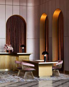 Hotel Foyer, Counter Design, Interior Decorating, Interior Design, Australian Homes, The Design Files, Commercial Interiors, Inspired Homes, Art Deco Fashion