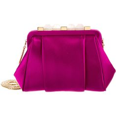 Pre-owned Oscar de la Renta Mini Marilia Clutch (960 CAD) ❤ liked on Polyvore featuring bags, handbags, clutches, mini hand bags, oscar de la renta handbags, miniature purse, mini purses and purple purse