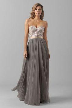 86cbdaa678 29 Delightful Champagne Bridesmaid Dresses images