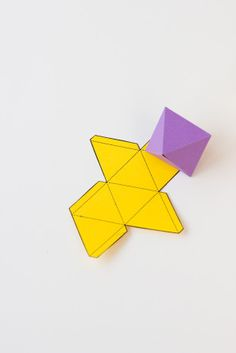 Geometric Paper Fold Party shapes- Studio DIY