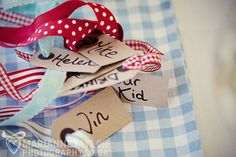 Luggage Tag Place Names, Wedding of Rebecca and Andrew by Marianne Taylor Photography