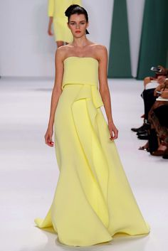 Carolina Herrere Collection Spring 2015 RTW...Love the draping.