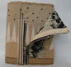 Recycled Fabric Journals at Art and Soul Retreat - Love the zippered closure!