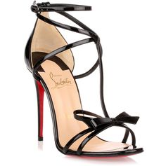 Christian Louboutin Blakissima 100 black patent leather sandal